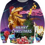 IDGREATIM Unsiex Ugly Christmas Pullover Sweatshirts 3D Print Novelty Xmas Elf Long Sleeve Sweater 22