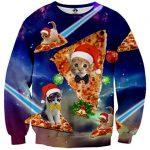 IDGREATIM Unsiex Ugly Christmas Pullover Sweatshirts 3D Print Novelty Xmas Elf Long Sleeve Sweater 21