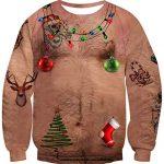 IDGREATIM Unsiex Ugly Christmas Pullover Sweatshirts 3D Print Novelty Xmas Elf Long Sleeve Sweater 15
