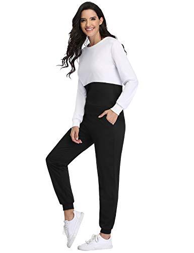 Irevial Womens Casual Loungewear Long Sleeve Sweatshirt Hoodies Pants Tracksuits Jogging Sportwear Outfits Set 13
