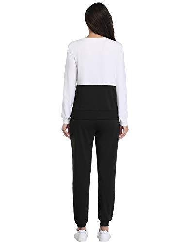 Irevial Womens Casual Loungewear Long Sleeve Sweatshirt Hoodies Pants Tracksuits Jogging Sportwear Outfits Set 14