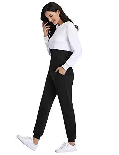 Irevial Womens Casual Loungewear Long Sleeve Sweatshirt Hoodies Pants Tracksuits Jogging Sportwear Outfits Set 15