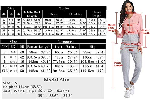 Irevial Womens Casual Loungewear Long Sleeve Sweatshirt Hoodies Pants Tracksuits Jogging Sportwear Outfits Set 5