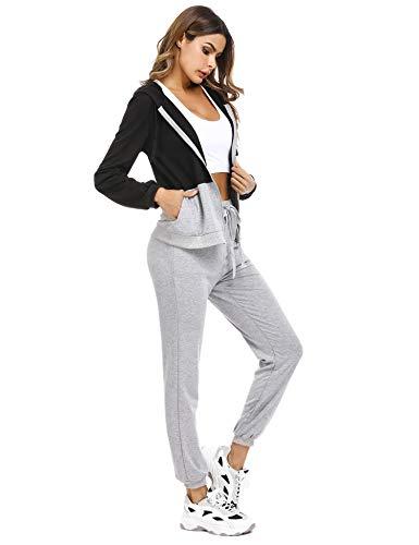 Irevial Womens Casual Loungewear Long Sleeve Sweatshirt Hoodies Pants Tracksuits Jogging Sportwear Outfits Set 7