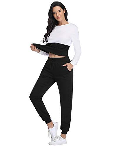 Irevial Womens Casual Loungewear Long Sleeve Sweatshirt Hoodies Pants Tracksuits Jogging Sportwear Outfits Set 9