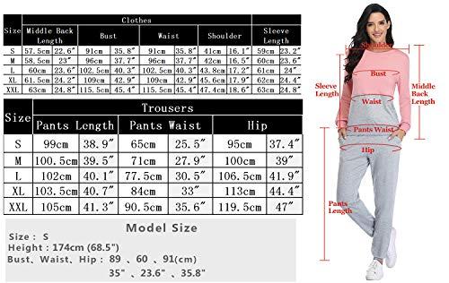 Irevial Womens Casual Loungewear Long Sleeve Sweatshirt Hoodies Pants Tracksuits Jogging Sportwear Outfits Set 11