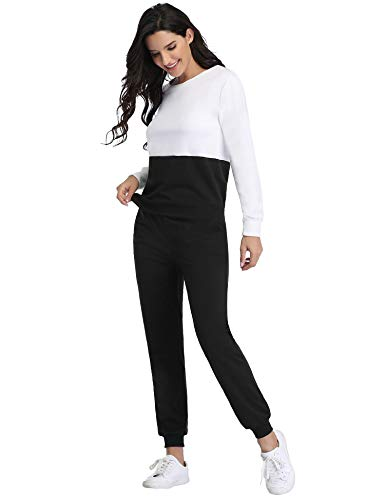 Irevial Womens Casual Loungewear Long Sleeve Sweatshirt Hoodies Pants Tracksuits Jogging Sportwear Outfits Set 12