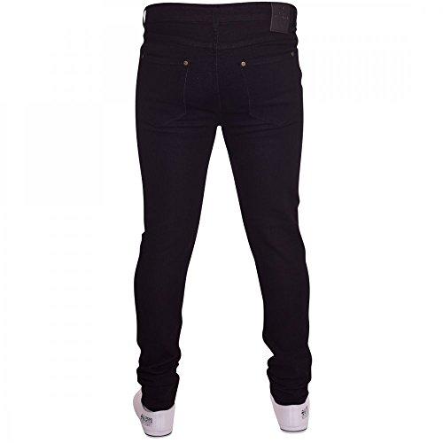 Island Trading Mens Skinny Stretch Slim Fit Stretchable Denim Jeans Cotton Trousers Blue, Black, Light Dark Blue 3