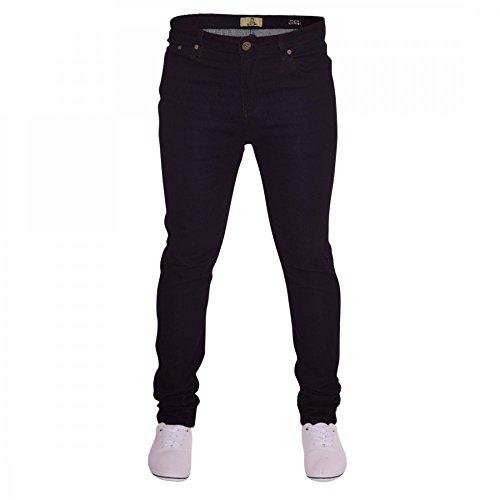 Island Trading Mens Skinny Stretch Slim Fit Stretchable Denim Jeans Cotton Trousers Blue, Black, Light Dark Blue 4