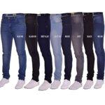Island Trading Mens Skinny Stretch Slim Fit Stretchable Denim Jeans Cotton Trousers Blue, Black, Light Dark Blue 14