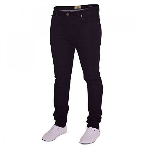 Island Trading Mens Skinny Stretch Slim Fit Stretchable Denim Jeans Cotton Trousers Blue, Black, Light Dark Blue 1