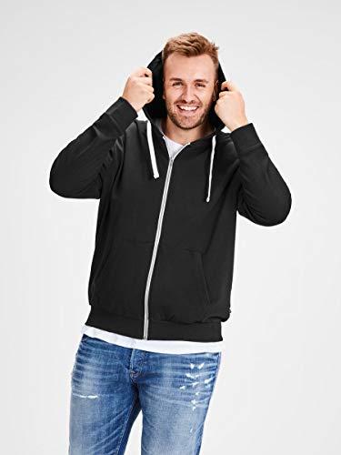 JACK & JONES Men's Jjeholmen Sweat Zip Hood Noos Jacket 4