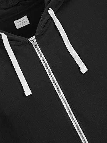 JACK & JONES Men's Jjeholmen Sweat Zip Hood Noos Jacket 5
