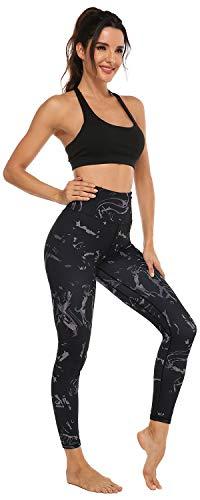 JOYSPELS Women's High Waisted Gym Leggings, Print Leggings with Hidden Pockets Womens 6