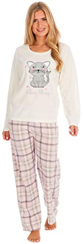 KATE MORGAN Ladies Soft & Cosy Fleece Animal Pyjamas 1