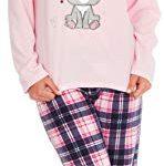 KATE MORGAN Ladies Soft & Cosy Fleece Animal Pyjamas 25