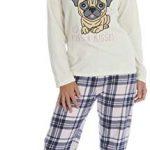 KATE MORGAN Ladies Soft & Cosy Fleece Animal Pyjamas 27