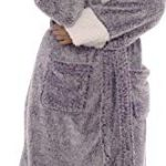 KATE MORGAN Ladies Soft & Cosy Long Pile Hooded Dressing Gown 27