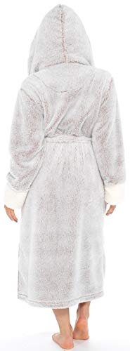 KATE MORGAN Ladies Soft & Cosy Long Pile Hooded Dressing Gown 6