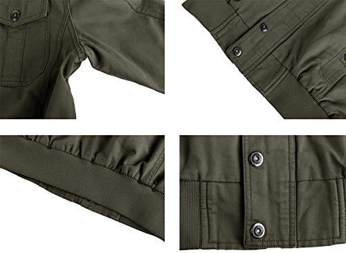 KEFITEVD Men's Casual Cargo Jacket Autumn Military Bomber Jackets Windbreaker Coat 4