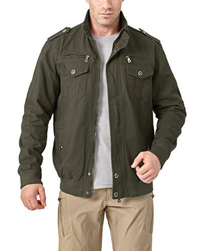 KEFITEVD Men's Casual Cargo Jacket Autumn Military Bomber Jackets Windbreaker Coat 8