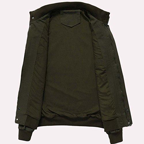 KEFITEVD Men's Cotton Windbreaker Jacket Military Zipper Bomber Cargo Outwear Jackets Coat 6
