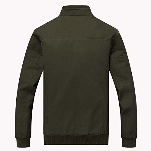 KEFITEVD Men's Cotton Windbreaker Jacket Military Zipper Bomber Cargo Outwear Jackets Coat 8