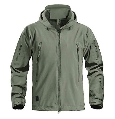 KEFITEVD Men's Waterproof Military Combat Jacket Tactical Soft Shell Fleece Jackets with Multi Pockets 3