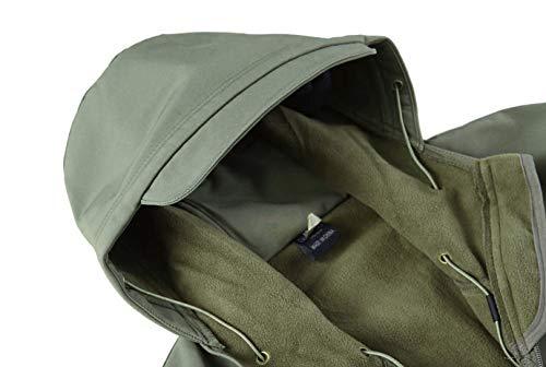 KEFITEVD Men's Waterproof Military Combat Jacket Tactical Soft Shell Fleece Jackets with Multi Pockets 7