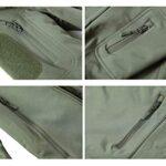 KEFITEVD Men's Waterproof Military Combat Jacket Tactical Soft Shell Fleece Jackets with Multi Pockets 23