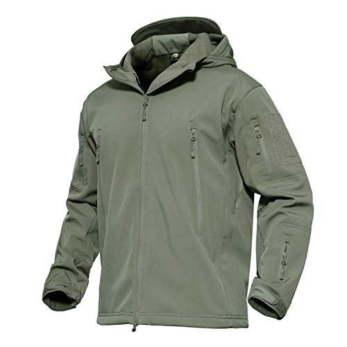 KEFITEVD Men's Waterproof Military Combat Jacket Tactical Soft Shell Fleece Jackets with Multi Pockets 1