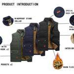 KEFITEVD Men's Winter Fleece Fishing Body Warmer Warm Windproof Gilet Outdoor Photography Vest with Multi Pockets 18