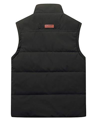 KEFITEVD Men's Winter Fleece Fishing Body Warmer Warm Windproof Gilet Outdoor Photography Vest with Multi Pockets 4