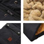 KEFITEVD Men's Winter Fleece Fishing Body Warmer Warm Windproof Gilet Outdoor Photography Vest with Multi Pockets 20