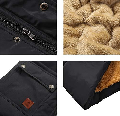 KEFITEVD Men's Winter Fleece Fishing Body Warmer Warm Windproof Gilet Outdoor Photography Vest with Multi Pockets 5