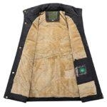 KEFITEVD Men's Winter Fleece Fishing Body Warmer Warm Windproof Gilet Outdoor Photography Vest with Multi Pockets 21