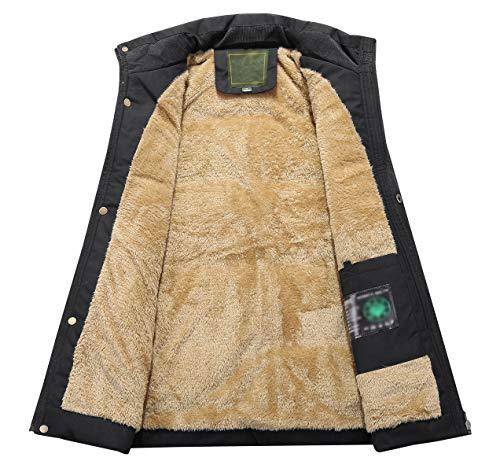 KEFITEVD Men's Winter Fleece Fishing Body Warmer Warm Windproof Gilet Outdoor Photography Vest with Multi Pockets 6