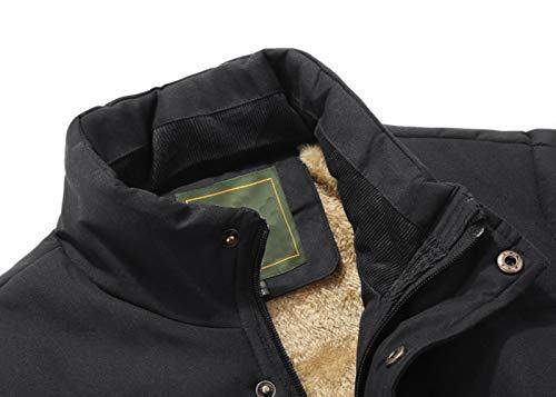 KEFITEVD Men's Winter Fleece Fishing Body Warmer Warm Windproof Gilet Outdoor Photography Vest with Multi Pockets 7