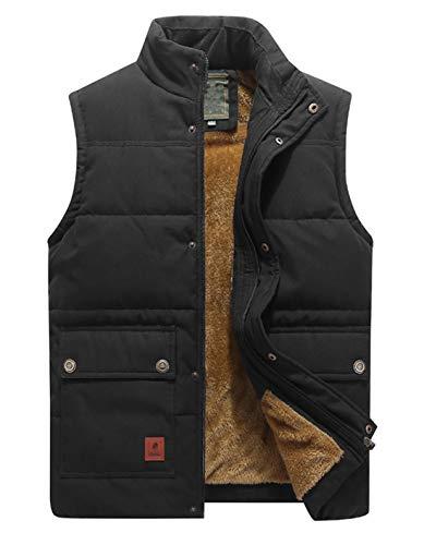 KEFITEVD Men's Winter Fleece Fishing Body Warmer Warm Windproof Gilet Outdoor Photography Vest with Multi Pockets 1