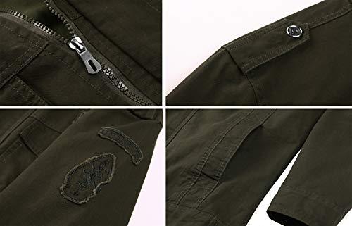 KEFITEVD Men's Winter Fleece Jacket Warm Cargo Stand Collar Military Thicken Cotton Jackets Coat 4
