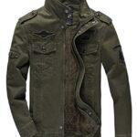 KEFITEVD Men's Winter Fleece Jacket Warm Cargo Stand Collar Military Thicken Cotton Jackets Coat 15