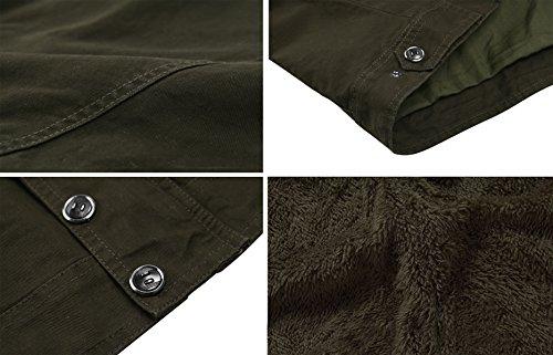 KEFITEVD Men's Winter Fleece Jacket Warm Cargo Stand Collar Military Thicken Cotton Jackets Coat 5