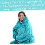 Kato Tirrinia Hoodie Blanket, Oversized Sherpa Sweatshirt, Super Soft Warm Wearable Blanket, Comfortable Giant Hoody… 18