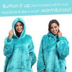 Kato Tirrinia Hoodie Blanket, Oversized Sherpa Sweatshirt, Super Soft Warm Wearable Blanket, Comfortable Giant Hoody… 22