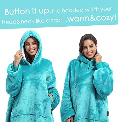 Kato Tirrinia Hoodie Blanket, Oversized Sherpa Sweatshirt, Super Soft Warm Wearable Blanket, Comfortable Giant Hoody… 7