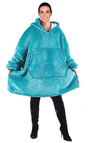 Kato Tirrinia Hoodie Blanket, Oversized Sherpa Sweatshirt, Super Soft Warm Wearable Blanket, Comfortable Giant Hoody… 1