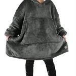 Kato Tirrinia Hoodie Blanket, Oversized Sherpa Sweatshirt, Super Soft Warm Wearable Blanket, Comfortable Giant Hoody… 25