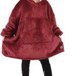 Kato Tirrinia Hoodie Blanket, Oversized Sherpa Sweatshirt, Super Soft Warm Wearable Blanket, Comfortable Giant Hoody… 24