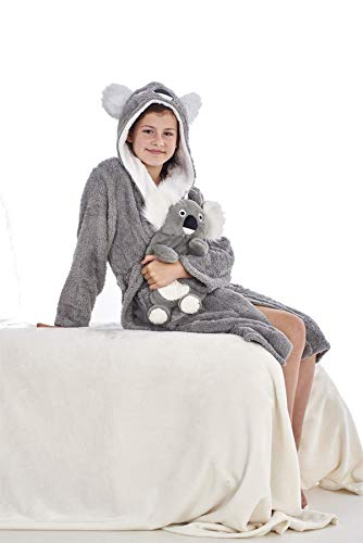 Keanu Ladies Womens Girls Matching Mother & Daughter Novelty Soft Snuggle Fleece Dressing Gown - Onesee 5