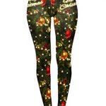 Kukubird Loungewear Christmas Winter Snowflake Santa Reindeer Stocking-Filler Women's Yoga Leggings Gym Fitness Running… 24